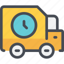 car, delivery, logistics, service, shipping, time, transport icon