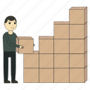 carton boxes, courier, delivery, goods, logistics, stock icon