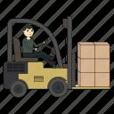 forklift, loader, logistics, truck, carrier