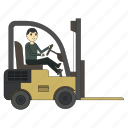 cargo, forklift, loader, logistics, truck