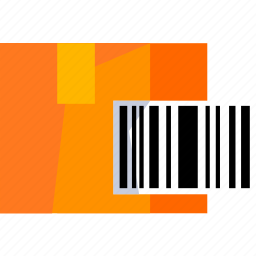 barcode, box, delivery, logistic, package, track icon