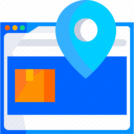 addresse, box, delivery, location, logistic, online, package icon
