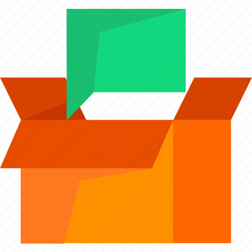 box, chat, comment, delivery, logistic, package icon