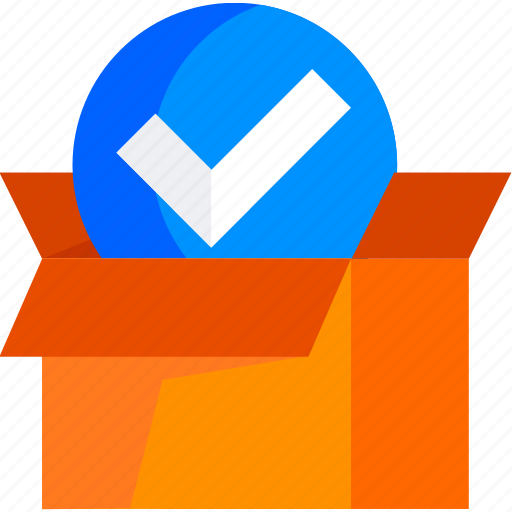 box, check, checked, deliver, delivery, package icon