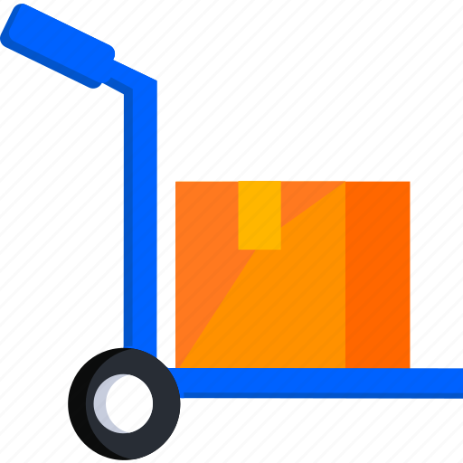 box, delivery, logistic, package, shipping, trolley icon