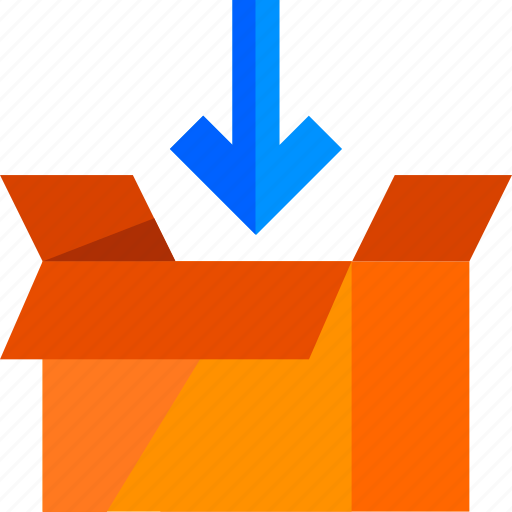 box, delivery, inbox, load, logistic, package icon