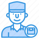 delivery, logistics, man, service, shipping, transport icon