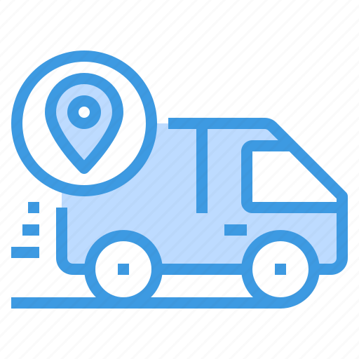delivery, logistics, service, shipping, tracking, transport icon