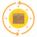 box, delivery, logistics, return, service, shipping, transport icon
