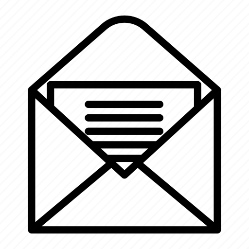 business, email, letter, mail, message, office, open letter icon