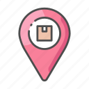 business, cargo, delivery, location, logistic, map, service icon