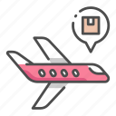 cargo, delivery, export, logistic, plane, shipping, transportation icon
