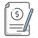 bill, business, delivery, finance, invoice, logistic, payment icon