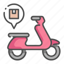 business, delivery, logistic, motorbike, scooter, service, vehicle icon