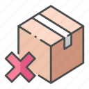 delivery, fail, logistic, mistake, package, problems, wrong icon