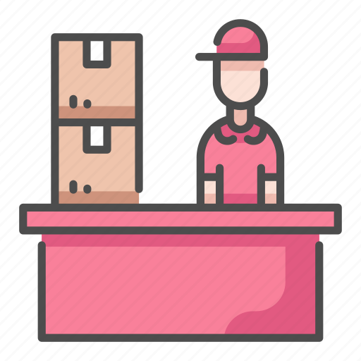 Courier, delivery, logistic, office, package, post, service icon - Download on Iconfinder
