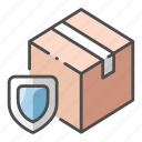 delivery, fragile, logistic, package, protect, safety, shipping icon