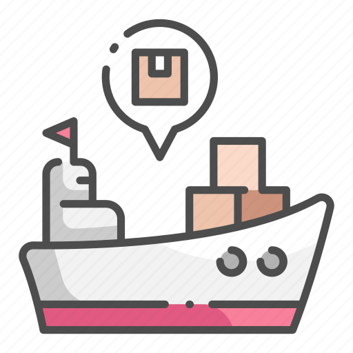 cargo, delivery, export, logistic, ship, shipping, transportation icon