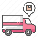 cargo, delivery, export, logistic, shipping, transportation, truck icon