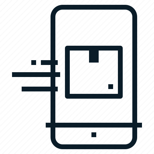 mobile, parcel, tracking icon