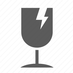 delivery, fragile, glass, logistics, package, shipping, transportation icon