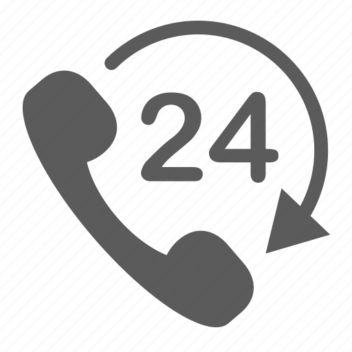 call, communication, connection, logistics, phone, support, whole day icon