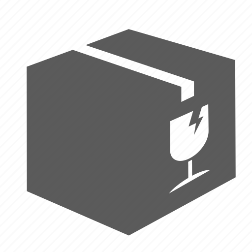 box, delivery, fragile, glass, logistics, shipment, transportation icon