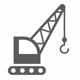 cargo, crane, delivery, logistics, transport, transportation, vehicle icon