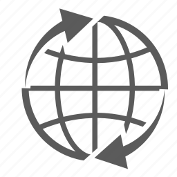 around the world, delivery, earth, globe, logistics, shipping, transportation icon