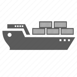 boat, delivery shipping shipment transport, logistics, package, ship, transportation icon