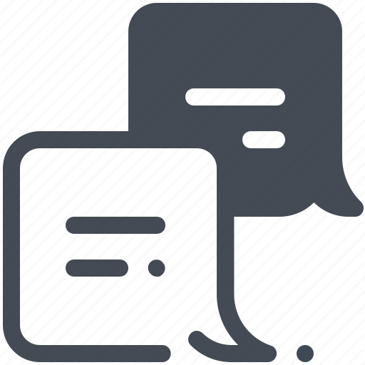 Chat, chatting, delivery, logistics, parcel, service icon - Download on Iconfinder