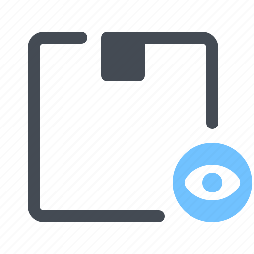 Box, delivery, eye, inspection, logistics, parcel, service icon - Download on Iconfinder