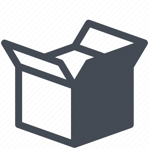 Box, cargo, logistics, open, parcel, service icon - Download on Iconfinder