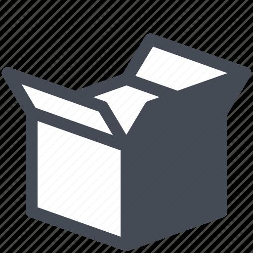 box, cargo, logistics, open, parcel, service icon