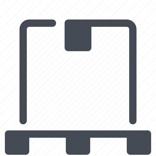 box, delivery, logistics, package, pallet, parcel, service icon