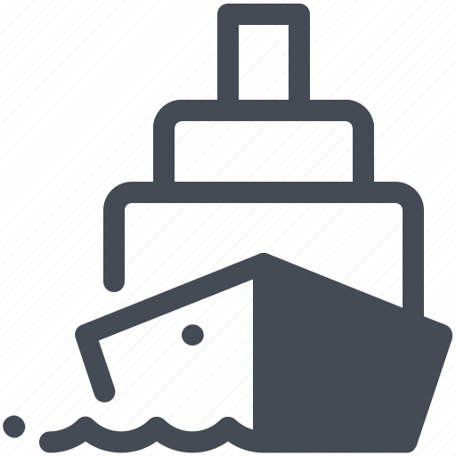 containers, delivered, sea, ship icon