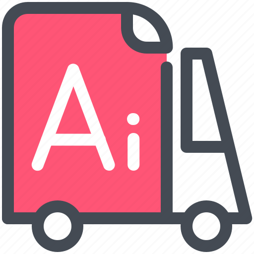 delivery, file, illustration file, vihicle icon