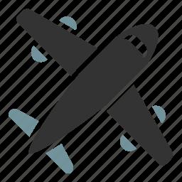 aircraft, par avion, shipping icon