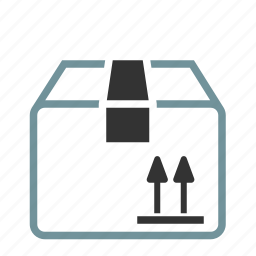 box, crate, package, this side up icon