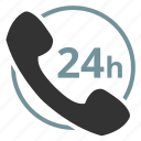 call, phone, support, whole day icon