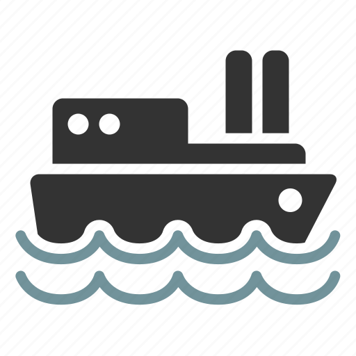 ship, shipping, water icon