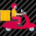 delivery, logistics, parcel, deliveryboy, box, transport, food