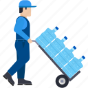 delivery, logistics, deliveryboy, water, supply, home delivery