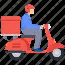 delivery, logistics, deliveryboy, parcel, box, transport, food