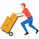 delivery, logistics, parcel, deliveryboy, box, package, cargo