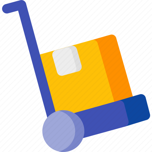 delivery, ecommerce, luggage, shipping, shopping, trolley icon