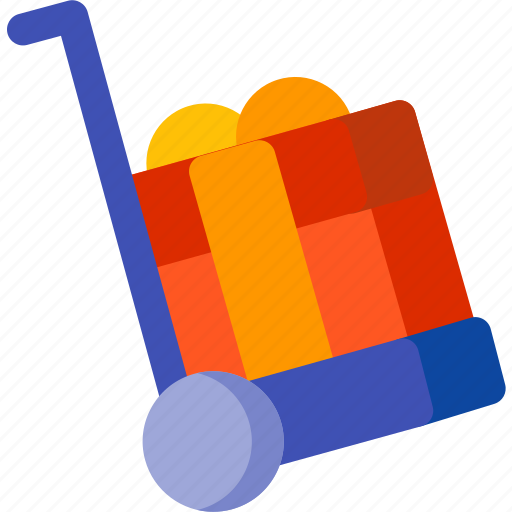 birthday, gift, holiday, present, shopping, trolley, xmas icon