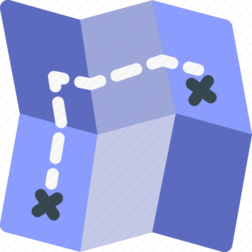 direction, location, map, navigation, path, pin icon