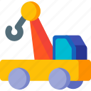 crane, delivery, lift, lifter, transportation, truck, vehicle icon