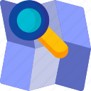 find, location, magnifier, magnifying, map, place, search icon